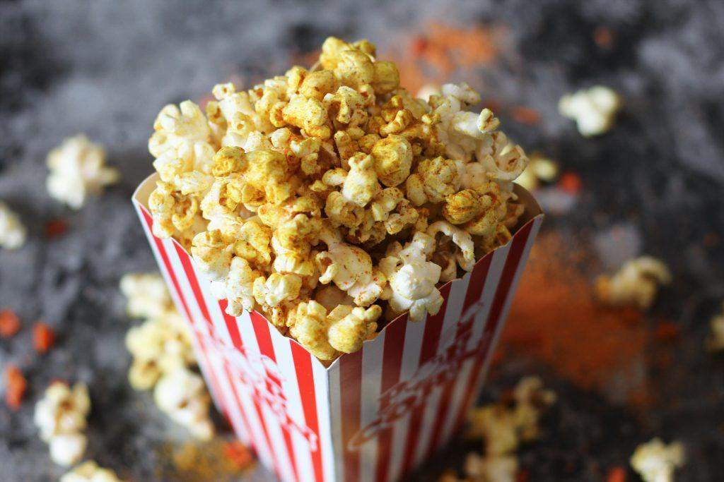 Close-up shot of popcorn